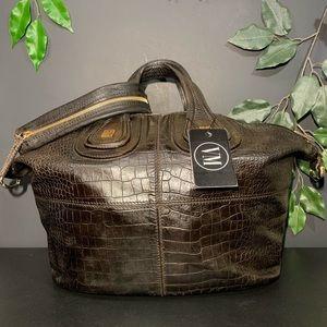 GIVENCHY • CROCODILE EMBOSSED NUBUCK BAG